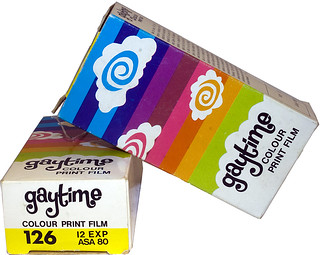 Two Cassettes of Gaytime 126 Colour Print Film 80ASA