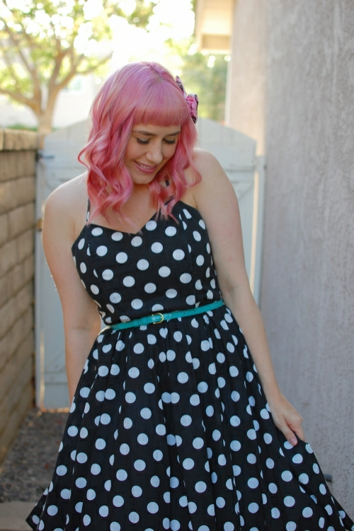 vintage polka dot dress 10