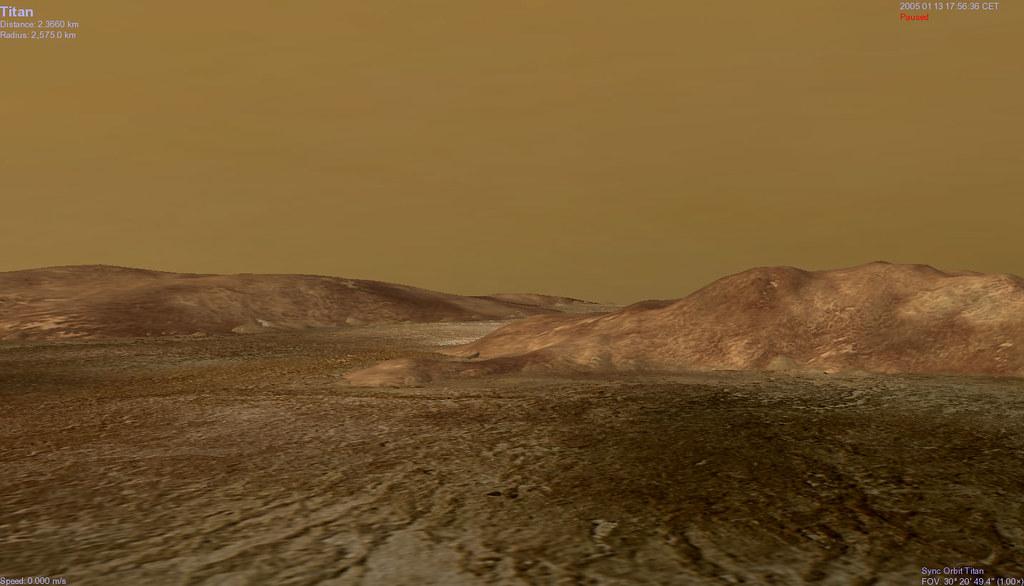 Titan Moon Surface Titan Surface Click to Zoom