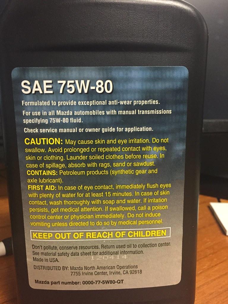 Sae 30 Oil >> Manual Transmission Fluid GL-4 75W-80
