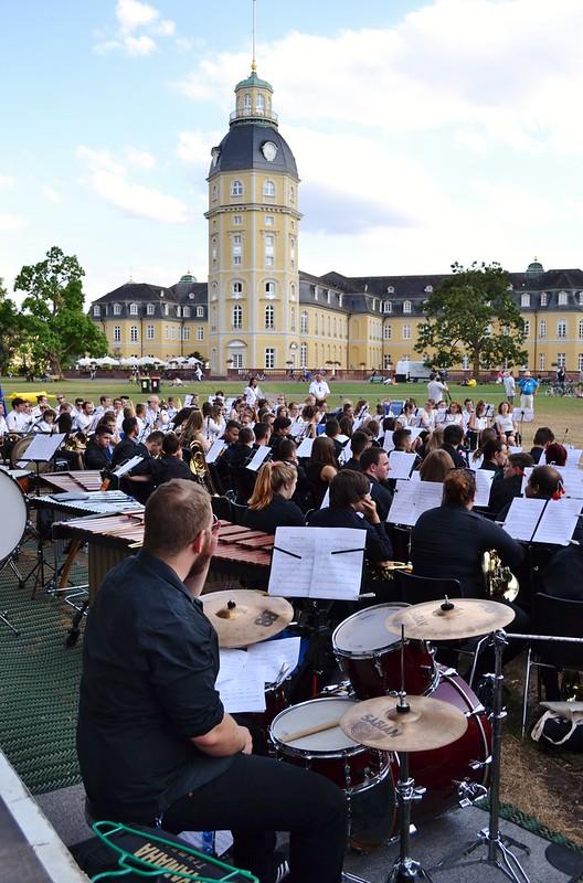 Karlsruhe: Treffen der Jugendorchester aus Partnerstädten beim Stadtgeburtstag - 23.07.2015