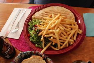 Cocoliche Arab bread sandwich