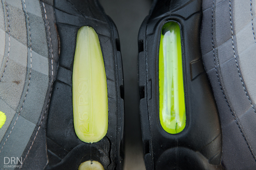 Comparisons - 1995 & 2015 Neon Air Max 95