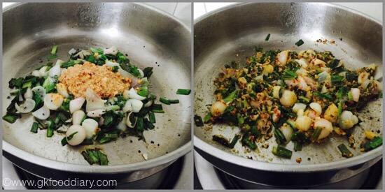 Spring onions stir fry - step 4