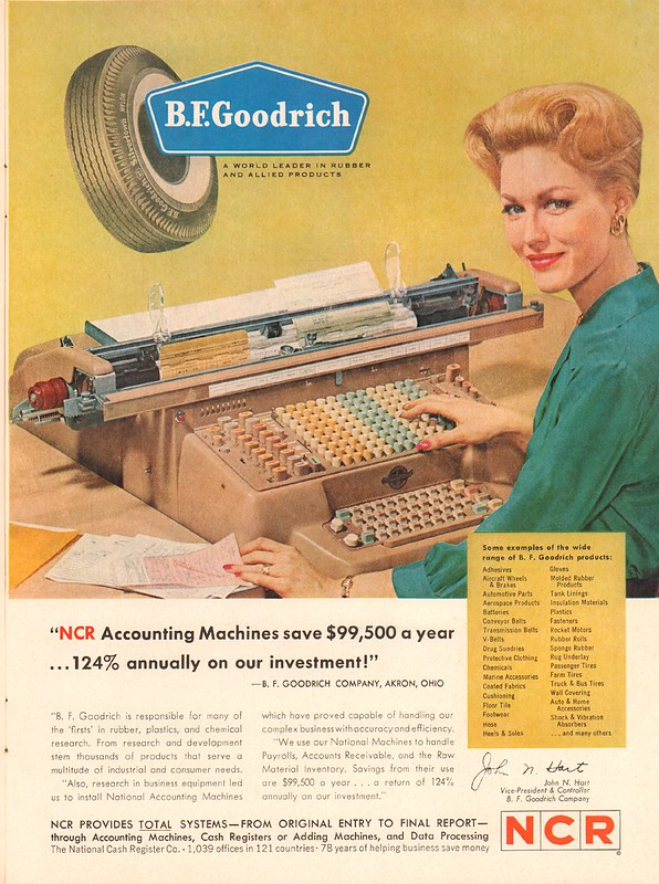 1962 NCR Accounting machine Advertisement Time Magazine February 2 1962