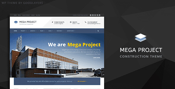Mega Project WordPress Theme free download