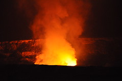 types of volcanic eruptions, fire,