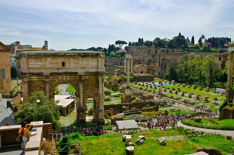 view over Forum Romanum