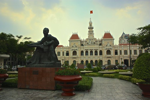 Ho Chi Minh statue in front of Saigon's city hall