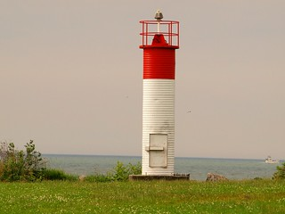 Image of Mimico Beach. park light lighthouse house lake toronto ontario canada west beach water bay east lakeshore etobicoke humber