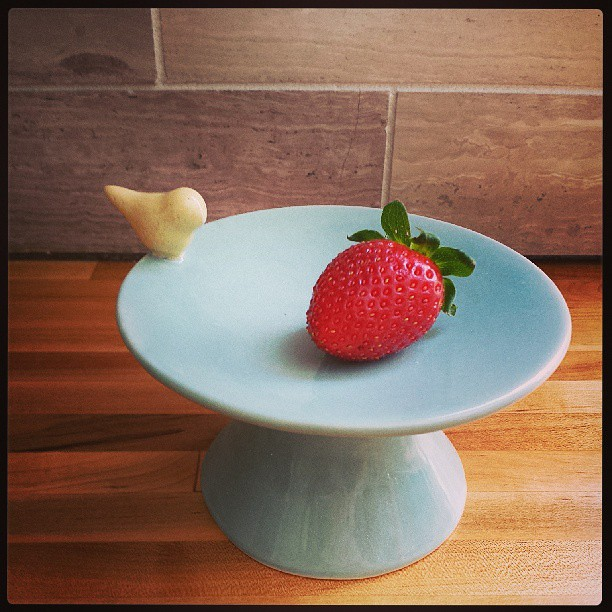 First Instagram taken in the new kitchen! One of Logan's awesome strawberries!