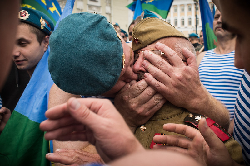 Russia Paratroopers Day held in St. Petersburg