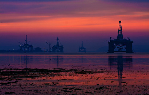 Oil Platforms at Cromarty firth.