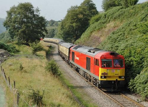 wales db railtour charter dbs class60 bedlinog 60063 60017 dbschenker 1z60 1z58 1z59 taffytug