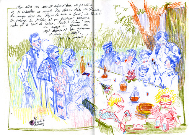 Normandy Holidays Homework #3 - Repas de noces (Normandes) par Fourié en croquis
