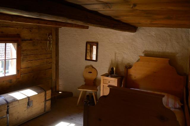 Dormitorio de la casa de Heidi