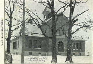 Merrillville High School, PM 1908 (pic ca. 1902?)
