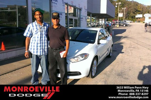 Thank you to Rashaun  Page on your new car  from Eldred Obodai and everyone at Monroeville Dodge! by Monroeville Dodge