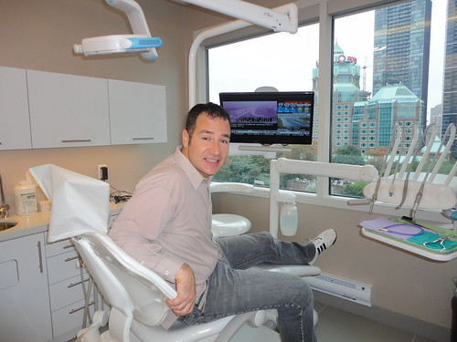 Rob Campbell in Dental Office, Dr Archer, Dentists Chair, Rosedale Family Dental Care