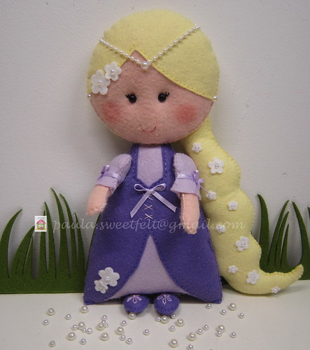 ♥♥♥ Rapunzel ... by sweetfelt \ ideias em feltro