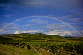 Double Rainbow under Montalcino (EXPLORE)