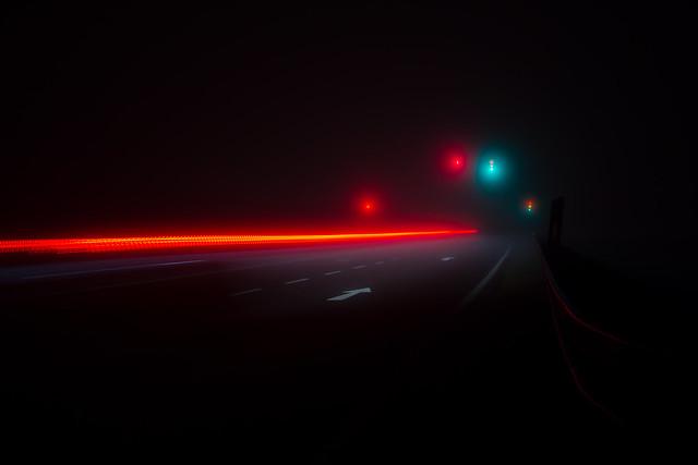 Nebel und die Ampel