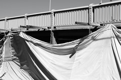 Painting & Renovation, Jensen Dr (Hill St) Bridge over Buffalo Bayou, Houston, Texas 1310061523BW