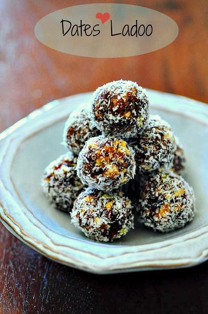 Date nut balls min ladoo laddu recipe for
