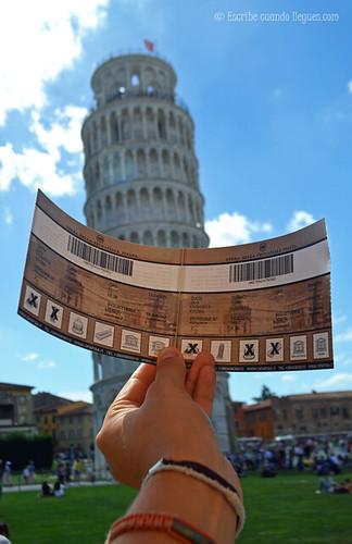 Ticket de entrada para acceder a los monumentos de la Plaza de los Milagros, en Pisa