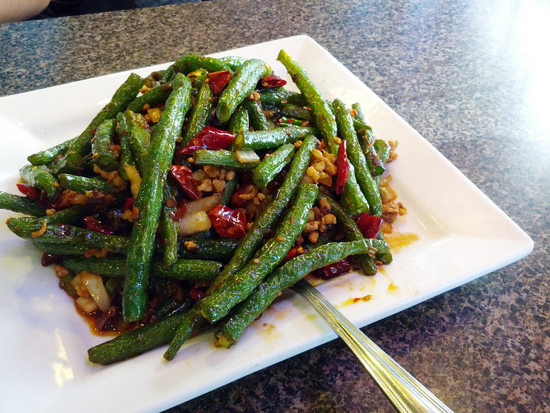 Stir-Fried Green Beans with Minced Pork (乾煸四季豆) @ Great Taste (鄭家莊)
