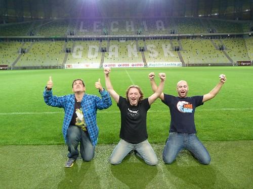 Con Avistu y Adri en el Estadio de Gdansk