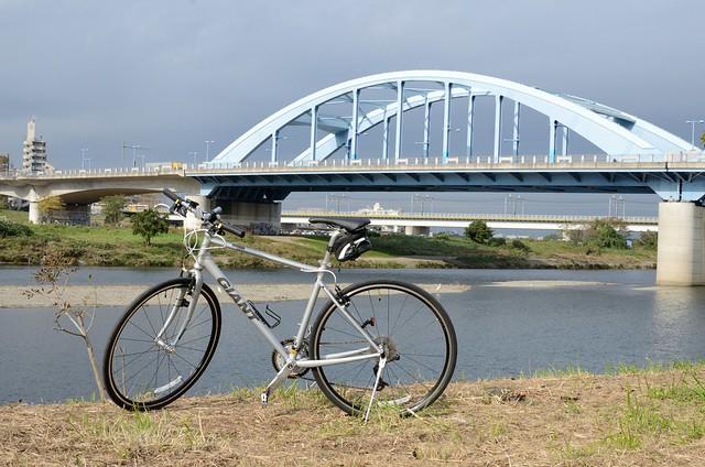 丸子橋にて