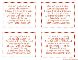 Hand Turkey Poem