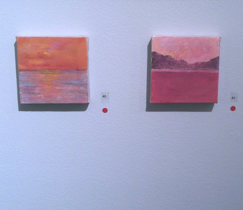 Two Mini-Paintings in the Gallery by randubnick