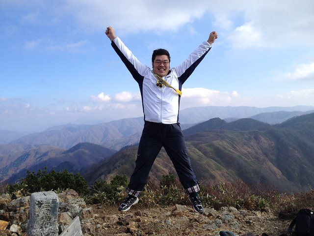 たっくん 山頂ジャンプ!