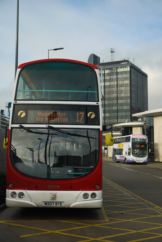 Volvo B9TL, MX07 BTE First Greater Manchester, Rochdale Interchange