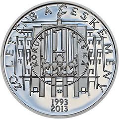 Czech coin Czech National Bank reverse