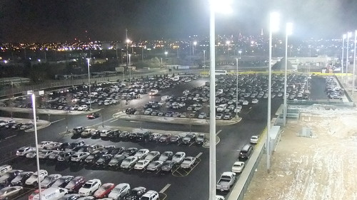 SnapShot | View From Upstairs #New #Meadowlands #Cars #Parking #Lot #EmpireStateBuilding