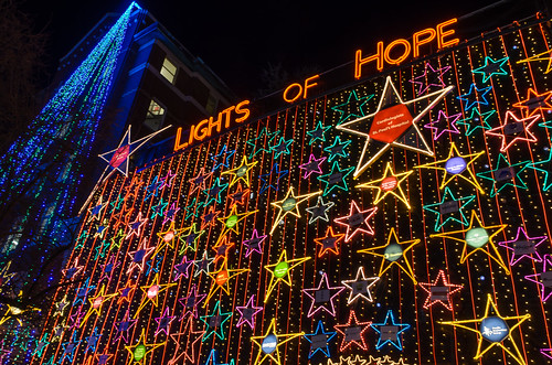 Going Vertical at the Lights of Hope at St Paul's Hospital