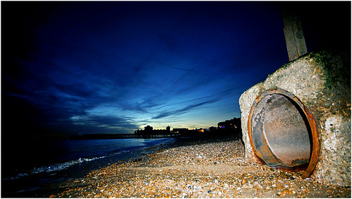 Pipe on the beach