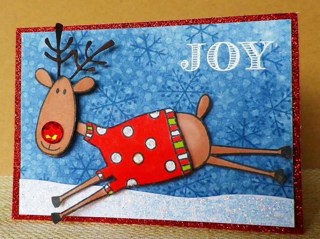 Joyful Reindeer ATC
