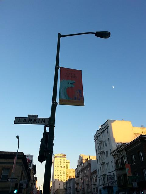 The Little Saigon banner flying high!