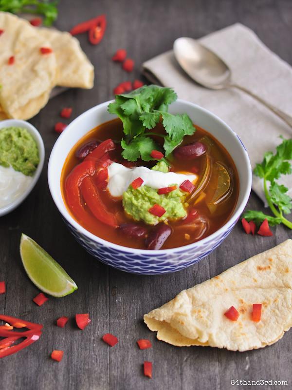 Vegetarian Fajita Soup