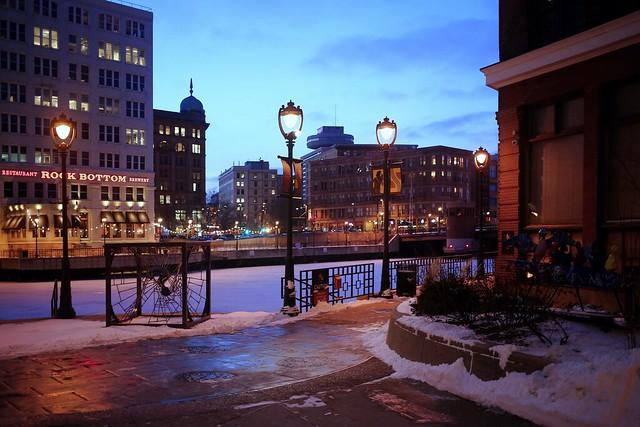 Winter Twilight at Mason Street Landing