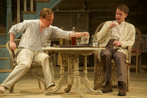 Adam Best as Jamie Tyrone and Timothy N.Evers as Edmund Tyrone in the Royal Lyceum's 2014 production of Long Days Journey Into Night. Photo © Alan McCredie