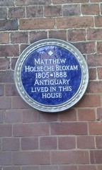 Photo of Matthew Bloxam blue plaque