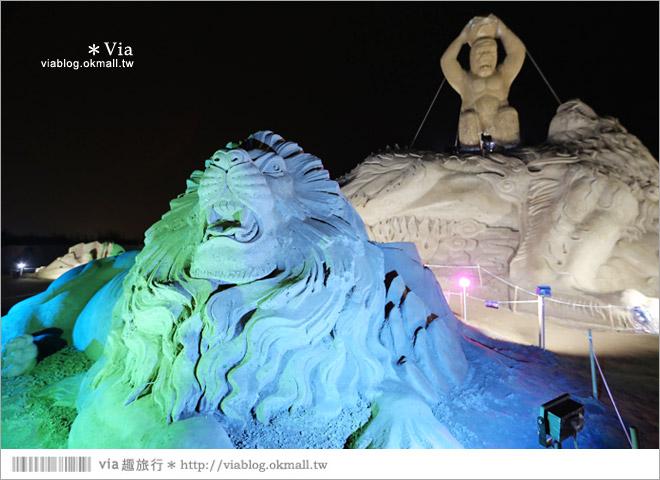 【2014台灣燈會在南投】南投沙雕燈會~夜間點燈好浪漫!還有精彩光雕秀22