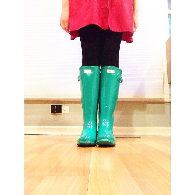 They're here! #hunterboots