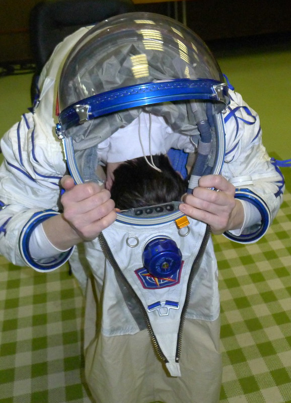 Putting on the Sokol suit