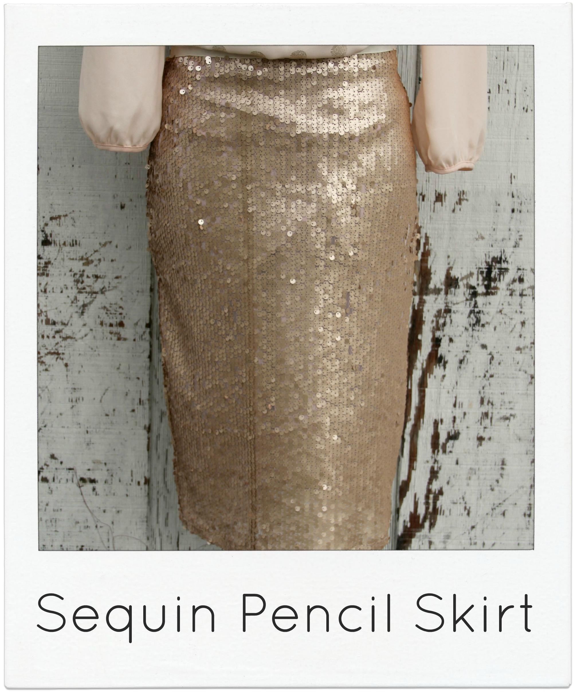 how to make a Jcrew sequin pencil skirt via Kristina J blog